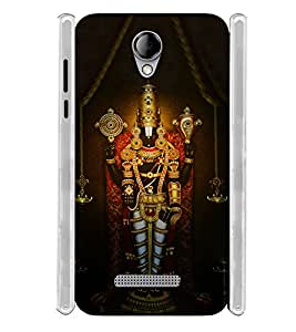 Lord Venkateswara Soft Silicon Rubberized Back Case Cover for Karbonn Titanium Mach Five :: Karbonn Machfive