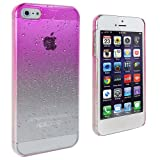 Lumii Ark Transparent Hot Pink Waterdrop Raindrop Hard Design Case for Apple iPhone 5