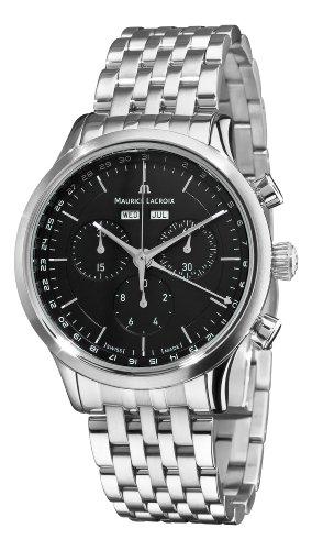 maurice-lacroix-mens-lc1008-ss002330-les-classiques-quartz-black-chronograph-dial-watch