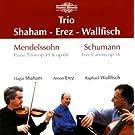 Mendelssohn, Schumann : Trios. Shaham, Erez, Wallfisch.