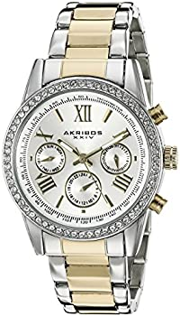 Akribos XXIV Women's Round Silver Dial Watch