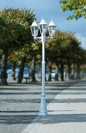 4 candel bre lampadaire lampadaire ext rieur lanterne de jardin traditionnel. Black Bedroom Furniture Sets. Home Design Ideas