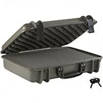 Seahorse SE710 Gun Case with Foam Plastic Lock, Medium, Gun Metal Grey