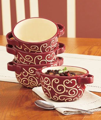 Bowl Set-S/4 Burgundy
