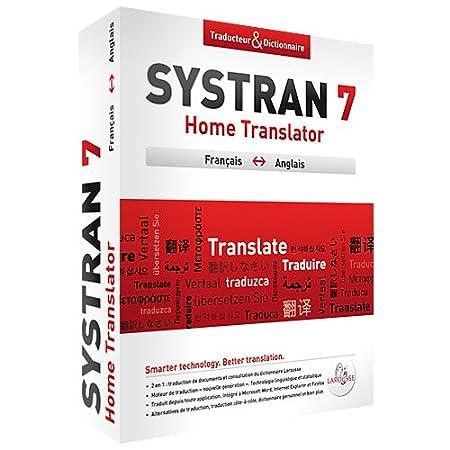 Systran 7 Home Translator Anglais/Francais/Anglais