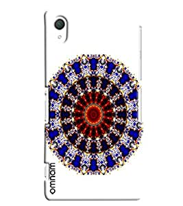 Omnam Rangoli Pattern Printed On White Background Printed Designer Back Cover Case For Sony Xperia Z2