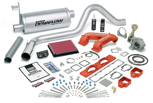 Banks Power 49281 PowerPack System; Performance System; Incl. Twin-Ram Intake/Air Filter/Quick Turbo/Big Head Wastegate Actuator/Ottomind Fuel-Cal Plt/Muffler/Tailpipe/Plshd S/S Tip/Gauges;
