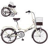 SAKAMOTO TECHNO/サカモトテクノ ジュリアーノ 20インチ 外装6段変速 折畳自転車 アイボリー