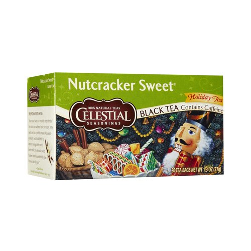 Celestial Seasonings Black Tea - Nutcracker Sweet - Contains Caffeine - Holiday Tea - 20 Bags