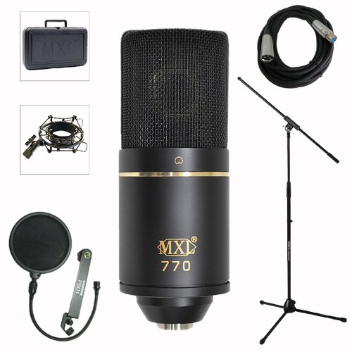 Mxl 770 Professional Studio Condenser Mic Recording Bundle