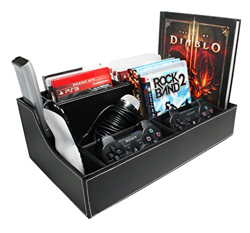 Media Storage Home Office Organizer Desktop Organizer Video Game Controller Organizer Remote Holder- Black (Video Console Organizer compare prices)