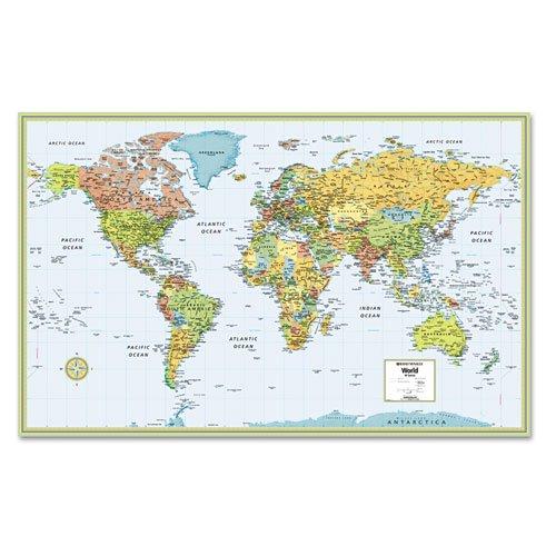 Rand Mcnally - M-Series Full-Color Laminated World Wall Map, 50 X 32 Rm528959948 (Dmi Ea