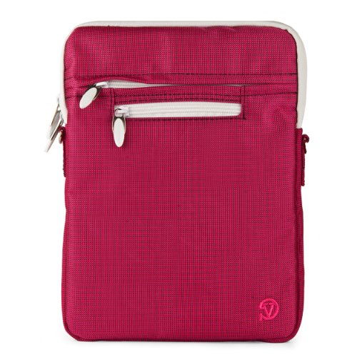 VG Hydei Edition Magenta Nylon Protective Carrying Bag with Removable Shoulder Strap for Motorola Droid Xyboard / Motorola Xyboard / Motorola Xoom Familiy Edition / Motorola Xoom 10.1 inch Tablets
