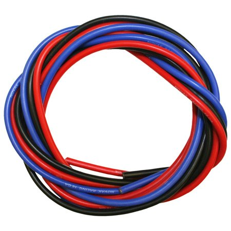 Novak 5516 16 Gauge Silicone Power Wire 3 ft:Black Red Blue - 1