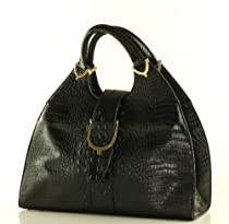 Hot Sale Designer Inspired Giovanna Satchel/Handbag - Black