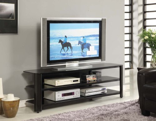 innovex oxford tv stand 65 inch black furniture entertainment centers stands. Black Bedroom Furniture Sets. Home Design Ideas