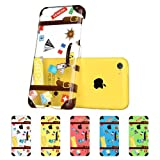 iPhone 5C Case, ESR® Fancy Series Hard Clear Back Cover with Cute Patterns Snap on Case for iPhone 5c Case Upgraded Version with Better Protection iPhone 5C Case(Suitcase)