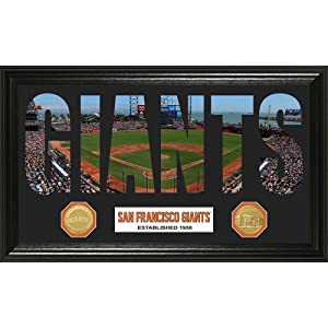 San Francisco Giants Word Art Bronze Coin Panoramic Photo Mint by Highland Mint