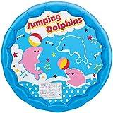 ヒオキ ビニールプール かんたん水抜き・空気抜きプール100cm (イルカさんブルー) ランキングお取り寄せ