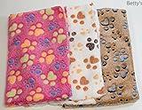 ペット用 毛布 やわらか かわいい 肉球柄 3枚組   (ミックス)