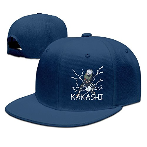 CYANY Japanese Comic Character Kakashi Flat Bill Snapback Adjustable Running Cap Hat Navy (Loc Peppa compare prices)