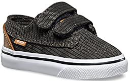 Vans Toddlers Brigata V (Washed Herringbone) Jet Black VN00018VILE Toddler 5
