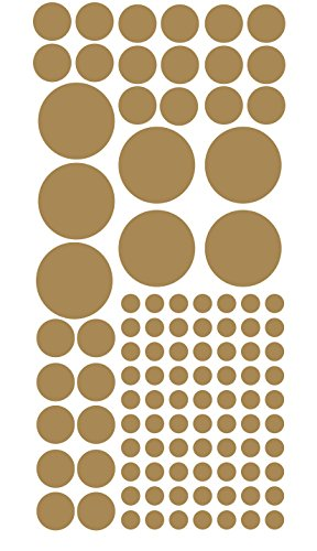 polka-dots-100-circle-wall-decal-decor-peel-and-stick-sheet-of-stickers-gold-pack