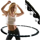 Professional Fitness Weighted Magnetic Workout Hula Hoop Massage Abs Exercise UK