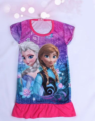 Ana and snow Queen of Frozen snow Queen Disney children undress one piece toy cosplay costume mall-online (115 cm (XL))