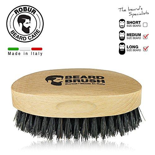 Brosse--barbe-en-bois-de-htre-naturel-et-soies-naturelles-de-porc-100-made-in-Italy-Poils-raides--peigner-la-barbe-mais-pas-agressif