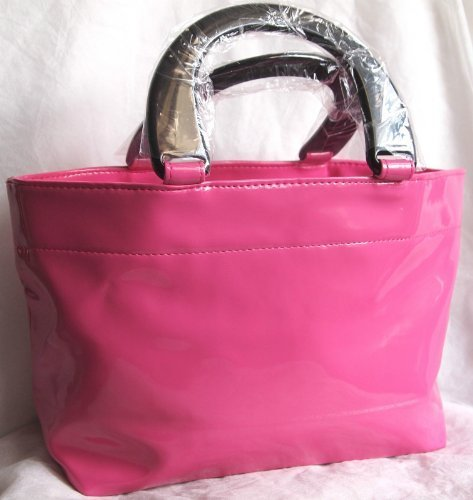 neiman-marcus-bright-pink-patent-tote-hand-bag-scent-event-2013-new-by-neiman-marcus