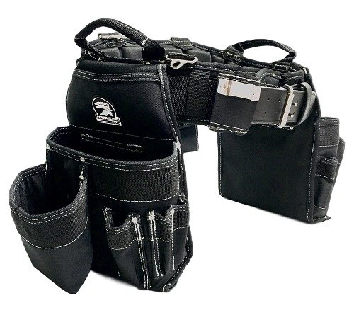 TradeGear Medium Carpenter's Combo Belt & Bags - MEASURE WAIST WITH CLOTHING ON FOR MORE ACCURATE FITTING OF BELT (30