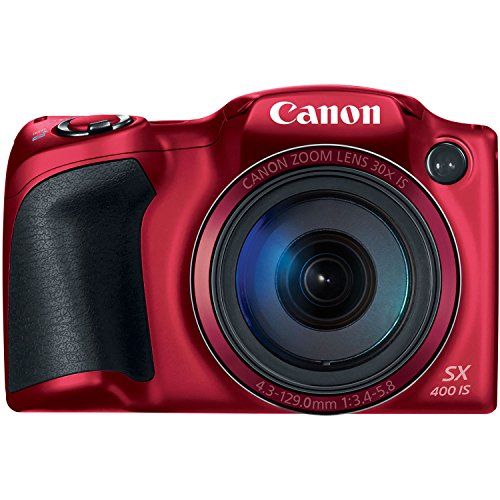 Lowest Price! Canon PowerShot SX400 Digital Camera with 30x Optical Zoom (Red)