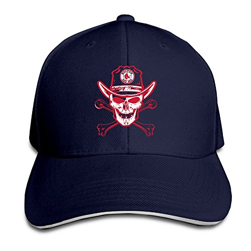 Ysc-Dier Youth Boston Red Sox Cowboy Skull Adjustable Baseball Cap Red Navy