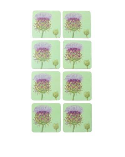 rockflowerpaper Set of 8 Cardoon Drink Coasters As You See