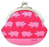 がま口 3.3寸 ブタ 財布 ピンク 日本製 ハンドメイド ぶた