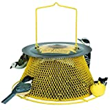 No/No Green and Yellow Sunflower Basket Bird Feeder  SB00316