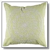 Rizzy Home 18-Inch by 18-Inch Decorative Pillows, Lime Green/Green, Set of 2
