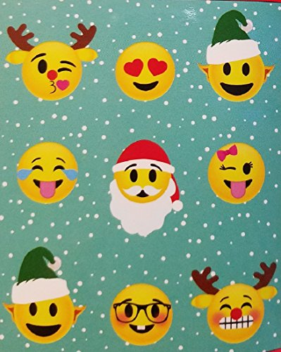 Emoji Expressions Christmas Theme Faces Plush Throw 50 x 60
