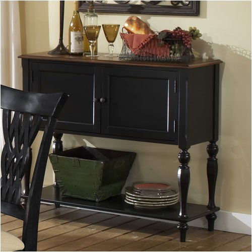 Buy Low Price Hillsdale Embassy Rubbed Black Finish Server Sideboard (AZ55-21339)