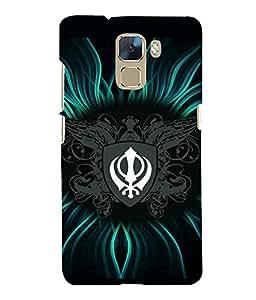 printtech Sikh Khalsa Waheguru Back Case Cover for Huawei Honor 7