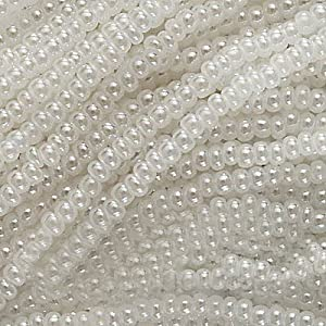 Czech Seed Beads Size 11/0 White Pearl (1 Hank/4000 Beads)