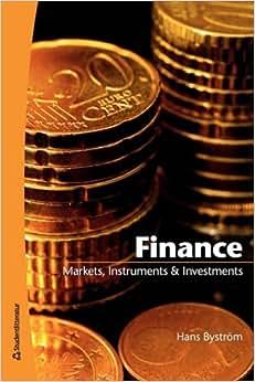 Finance: Markets, Instruments & Investments