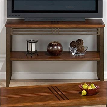 Sofa/Media Unit Jofran Barrington Sofa/Media Unit in Cherry Finish