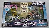 MXS Wicked Rivals 1:16 Scale Motorcycles ANSER vs LIGHT-UP RIDER Jakks Pacific [並行輸入品]
