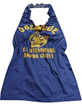 Gold Rush Outfitters - Girl Halter Tops, Navy 17313-3