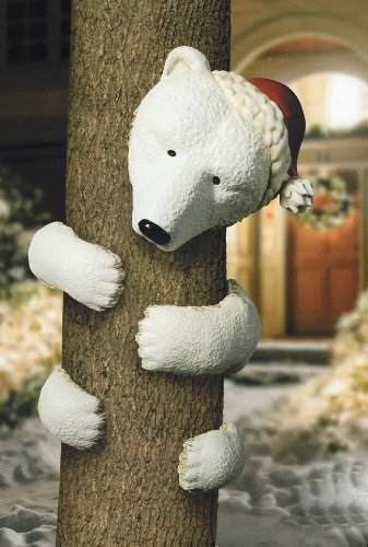 Grasslands Road Vintage Chic Outdoor 5-Piece Polar Bear Tree Hugger