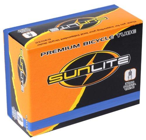 Sunlite Standard Presta Valve Tubes, 700 x 28 - 35  / 32mm, Black
