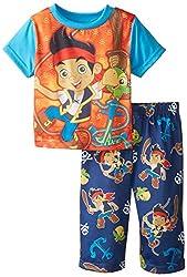 Disney Baby Boys' Jake Neverland Pirate Anchors Aways Pajama Set, Blue, 18 Months