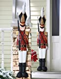 Collections Etc - Metal Holiday Tin Soldier Wall Decoration
